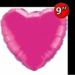 """Foil Heart 9"""" Magenta / Air Fill (Non-Pkgd.), QF09HP99342 (0) <10 Pcs/包>"""