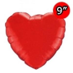 "Foil Heart 9"" Ruby Red / Air Fill (Non-Pkgd.), QF09HP23355 (0) <10 Pcs/包>"
