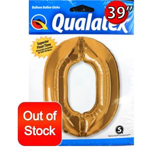 "Number Metallic Gold 數字【0】39"" , *QF39NP30469(PK)"