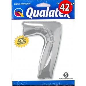 """Number Silver 數字【7】42"""" , QF42NP30425 <Helium #C>"""