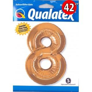 "Number Metallic Gold 數字【8】42"" , QF42NP30501 <Helium #C>"