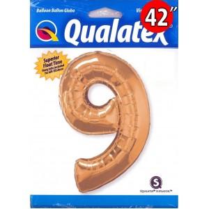"Qualatex _ 42"" Number【9】Metallic Gold (Pkgd.), QF42NP30505"