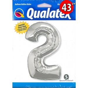 """Number Silver 數字【2】43"""" , QF43NP30404 <Helium #C>"""