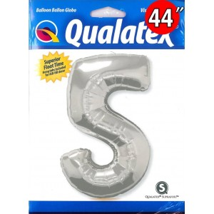 """Number Silver 數字【5】44"""" , *QF44NP30417 <Helium #C>"""
