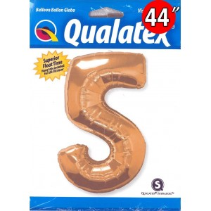 "Qualatex _ 44"" Number【5】Metallic Gold 金色數字 (Pkgd.), QF44NP30489"