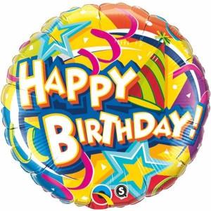"""18"""" Foil Birthday Hat & Stars (pkgd.) , *QF18RI10387"""