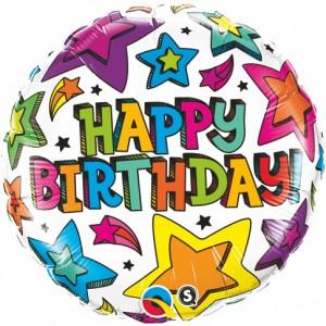 "18"" Foil Birthday Multiple Stars (pkgd.) , *QF18RI41658"