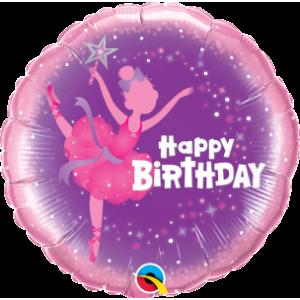 "18"" Foil Birthday Ballerina (Pkgd.), QF18RI41681 (0) <10 個/包>"