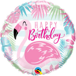 "18"" Foil Birthday Pink Flamingo (Pkgd.), QF18RI57274 (0) <10 個/包>"