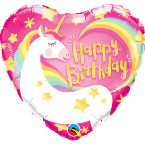 "18"" Foil Birthday Magical Unicorn (pkgd.), QF18RI57319 (0) <10 Pcs/Bag>"
