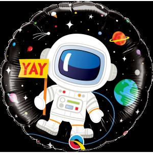 "18"" Foil Birthday Astronaut (Pkgd.), QF18RI88059 (0) <10 個/包>"