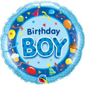 "18"" Foil Birthday Boy Blue (pkgd.) , QF18RI26269"