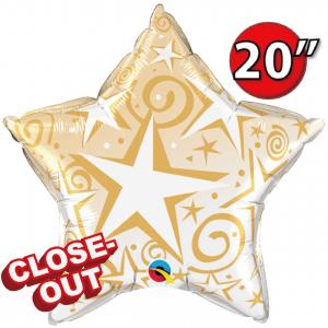 "20"" Foil Starblast ( Gold)  (non-pkgd.), QF20SI89304 (D)"