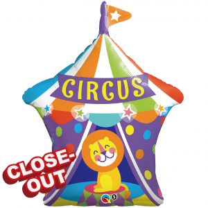 "36"" Foil Big Top Circus Lion (pkgd.),QF36SI25239 (D)"