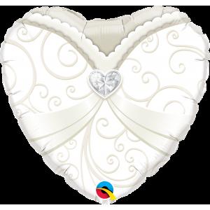 """18"""" Foil Wedding Gown (pkgd.) , QF18HI15791(PK)"""