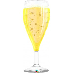 "39"" Foil Bubbly Wine Glass (non-pkgd.), QF39SI26371 (0) <10 個/包>"