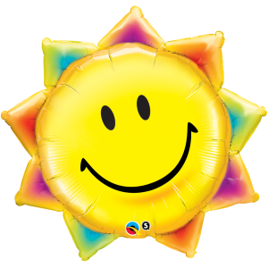 """35"""" Foil Sunshine Smile Face (non-pkgd.), QF35SI26530 (0) <10 個/包>"""