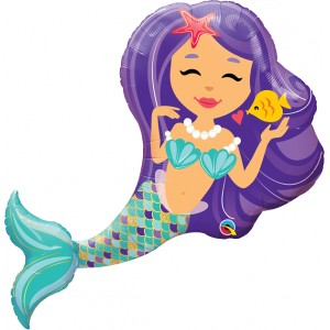 "38"" Foil Enchanting Mermaid (non-pkgd.), QF38SI57812 (0) <10 Pcs/Bag>"