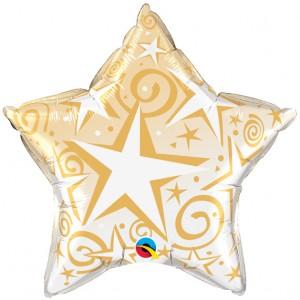 """20"""" Foil Starblast - Gold , #QF20SI89304"""