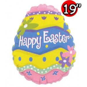 "19"" Foil Happy Easter Egg (Non-Pkgd.), QF19SI71384 (2)"