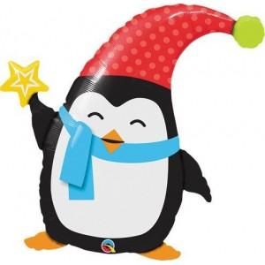 "35"" Foil Popular Elfin Penguin (Non-Pkgd.), QF35SI44229 (2)"