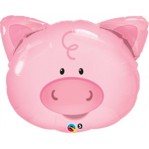 """30"""" Foil Playful Pig (non-pkgd.), QF30SI29656 (0) <10 個/包>"""