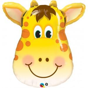 "32"" Foil Jolly Giraffe (non-pkgd.), QF32SI31035 (0) <10 個/包>"