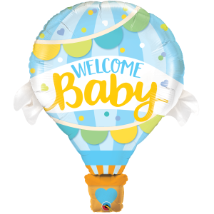 "42"" Foil Welcome Baby Blue Balloon (Non-pkgd.), QF42SI78653 (0)"