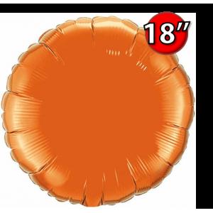 """Foil Round 18""""  Orange (Non-Pkgd.), QF18RP12916 (0) <10 Pcs/包>"""