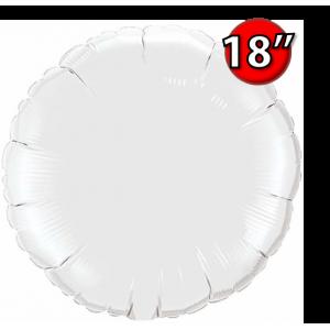 """Foil Round 18""""  White (Non-Pkgd.), QF18RP12921 (0) <10 Pcs/包>"""