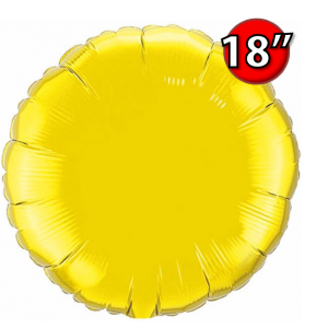 """Foil Round 18""""  Citrine Yellow (Non-Pkgd.), QF18RP22637 (0) <10 Pcs/包>"""