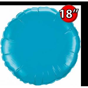 """Foil Round 18""""  Turquoise (Non-Pkgd.), QF18RP30749 (0) <10 Pcs/包>"""