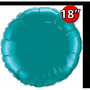 """Foil Round 18""""  Teal (Non-Pkgd.), QF18RP32554 (0) <10 Pcs/包>"""
