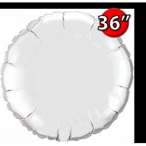 """Foil Round 36"""" (3')  Silver (Non-Pkgd.), QF36RP12683 (0) <10 Pcs/包>"""