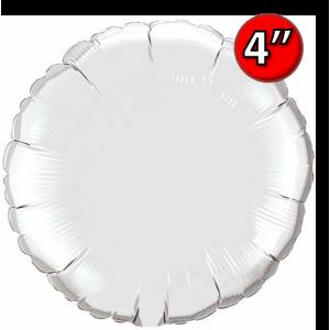 "Foil Round 4""  Silver / Air Fill (Non-Pkgd.), QF04RP22834 (0) <10 Pcs/包>"