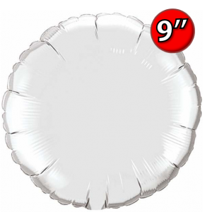 "Foil Round 9""  Silver / Air Fill (Non-Pkgd.), QF09RP22451 (0) <10 Pcs/包>"