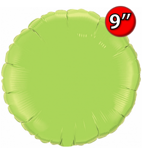 "Foil Round 9""  Lime Green / Air Fill (Non-Pkgd.), QF09RP64057 (0) <10 Pcs/包>"