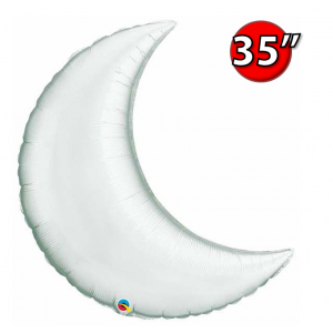 "Crescent Moon 35"" Silver , *QF35SP36531 <Helium #C>"