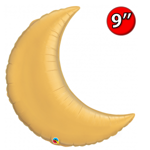 "Crescent Moon  9"" Gold / Air-fill , *QF09SP42122 <Air #A>"