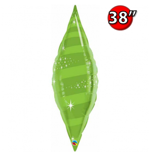 "Taper Swirl 38"" Lime Green , QF38SP22825 <Helium #C>"