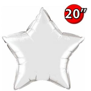"""Foil Foil Star 20"""" Silver (Non-Pkgd.), QF20SP12630 (0) <10 Pcs/包>"""