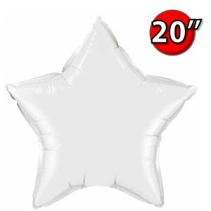"""Foil Star 20"""" White (Non-Pkgd.), QF20SP12643 (0) <10 Pcs/包>"""