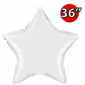 """Foil Star 36"""" White (Non-Pkgd.), QF36SP12348 (0) <10 Pcs/包>"""