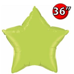 """Foil Star 36"""" Lime Green (Non-Pkgd.), QF36SP16165 (0) <10 Pcs/包>"""