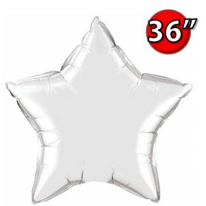 """Foil Star 36"""" Silver (Non-Pkgd.), QF36SP22376 (0) <10 Pcs/包>"""