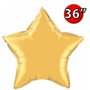 "Foil Star 36"" Metallic Gold (Non-Pkgd.), QF36SP36498 (0) <10 Pcs/包>"