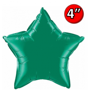 "Foil Star 4"" Emerald Green / Air-Fill (non-pkgd.), QF04SP22850 (0) <10 個/包>"