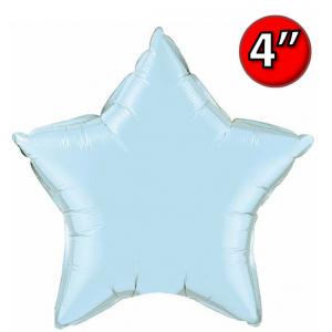 "Foil Star 4"" Pearl Light Blue / Air Fill (Non-Pkgd.), QF04SP54565 (0) <10 Pcs/包>"