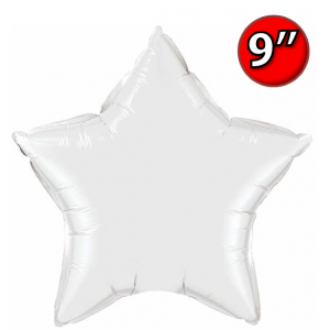 "Foil Star 9"" White / Air Fill (Non-Pkgd.), QF09SP24133 (0) <10 Pcs/包>"