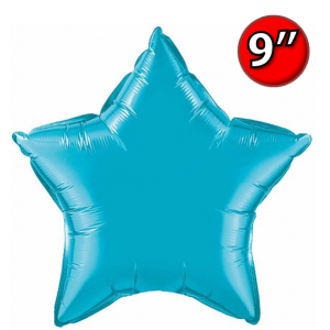 "Star  9"" Foil Star 9"" Turquoise / Air Fill (Non-Pkgd.), QF09SP24818 (0) <10 Pcs/包>"
